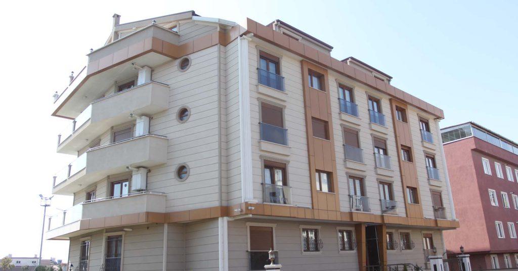 Model Alüminyum Beşevler Mahallesi Tercih Yapı PVC Pencere ve Kompozit Cephe Uygulaması